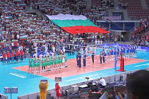 Bulgaria men's national volleyball team - Bulgaria and Serbia Match in 2014