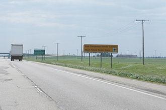 Saskatchewan Highway 6 - approaching the Highway 6 - Highway 1 interchange north of Regina