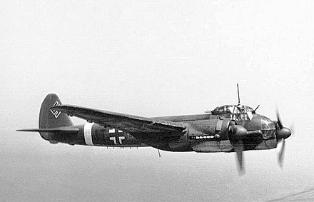 Junkers Ju 88s. In the mid-afternoon, this aircraft formed the backbone of German bomber formations. Bundesarchiv Bild 101I-363-2258-11, Flugzeug Junkers Ju 88.jpg