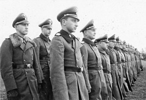 1st SS Infantry Brigade - 1 SS Infantry Brigade January 1944, Standartenführer Wilhelm Trabandt in the front row