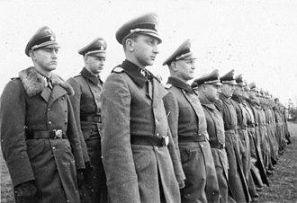 1st SS Infantry Brigade - 1 SS Infantry Brigade January 1944, Standartenführer Wilhelm Trabandt in the front row