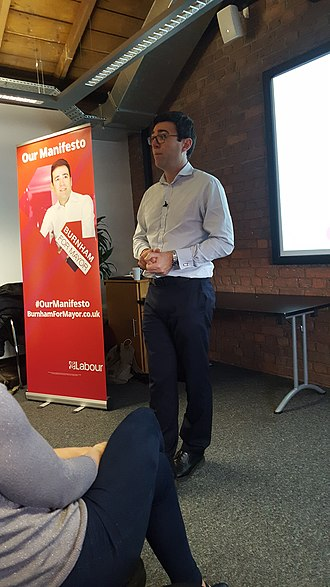 Andy Burnham - Burnham campaigning for mayor