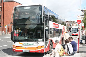 Bus Éireann - Image: Bus Éireann coach outside Connolly Station, 29 07 2012