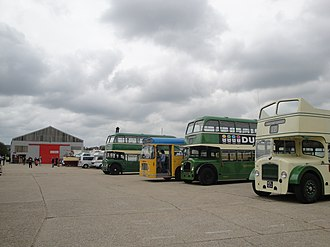Isle of Wight Bus & Coach Museum - Image: Buses at Isle of Wight Bus Museum running day May 2010 2