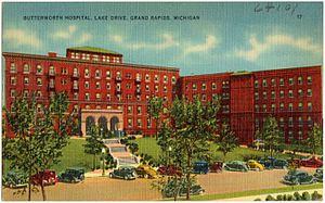 Butterworth Hospital (Michigan) - Butterworth Hospital in the 1930s or 40s