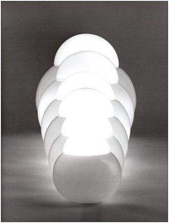 Sergio Asti - Image: CANDLE lampada da tavolo DARUMA (1967) 2