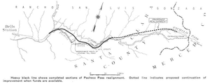 California State Route 152 - Image: CA Route 152 Realignment 1939