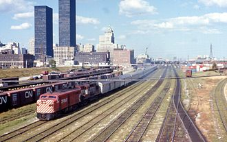 Canadian (train) - The Canadian leaving Toronto in 1970.