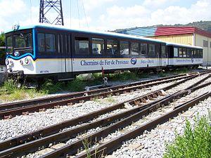 Chemins de Fer de Provence - Railcar XR1376 in station Nice-Lingostière.