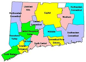 Local government in Connecticut - Regional Council of Governments of Connecticut as of 2013