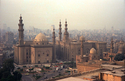 Cairo with a view of the Mosque of Sultan Hasan, as seen from the Citadel. Cairo(js).jpg