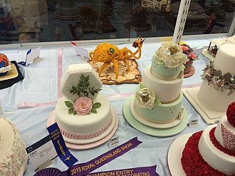 Ekka - Cake decorating competition with traditional and novelty designs, Ekka, Brisbane, 2015