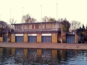 Sidney Sussex College Boat Club - Image: Cambridge boathouses Corpus, Girton, Sidney & Wolfson