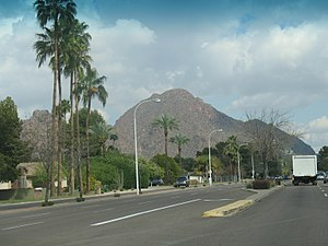 Camelback East, Phoenix - Camelback Mountain as viewed from Camelback Road
