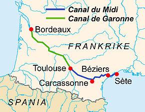 kart over syd frankrike Canal du Midi – Wikipedia kart over syd frankrike