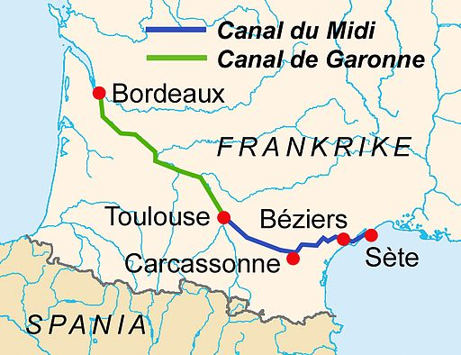 CanalDuMidi map