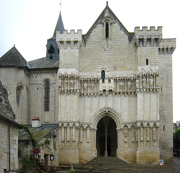 Church of Saint-Martin, situated in the village of Candes-Saint-Martin near Tours in France