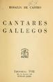 Cantares gallegos. Editorial Tor. Buenos Aires. Sin fecha de edición, circa 1930.pdf