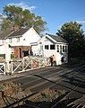 Cantley station - manually operated crossing gates - geograph.org.uk - 1520958.jpg