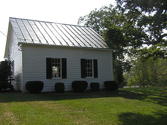 Capon Chapel - North side viewed from the north lawn