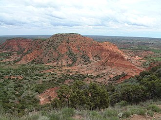 Caprock Canyons State Park and Trailway - Image: Caprock Canyons Butte 2005