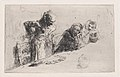Cardplayers- three men, two seated one standing before a spread of cards on a table MET DP876117.jpg