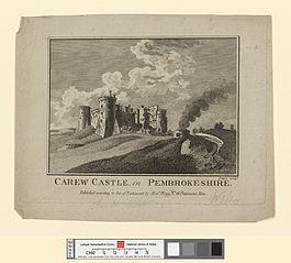 Carew castle, in Pembrokeshire