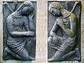 Carl Gutknecht (1878–1970) Bildhauer. Wachende Engel, 1960. Friedhof am Hörnli, Basel.jpg