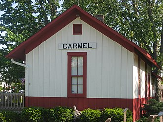 National Register of Historic Places listings in Hamilton County, Indiana - Image: Carmel Monon Depot