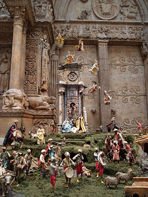 Nativity scene - Neapolitan presepio at the Carnegie Museum of Art in Pittsburgh
