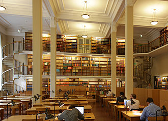 Uppsala University Library - One of the reading rooms at Carolina Rediviva