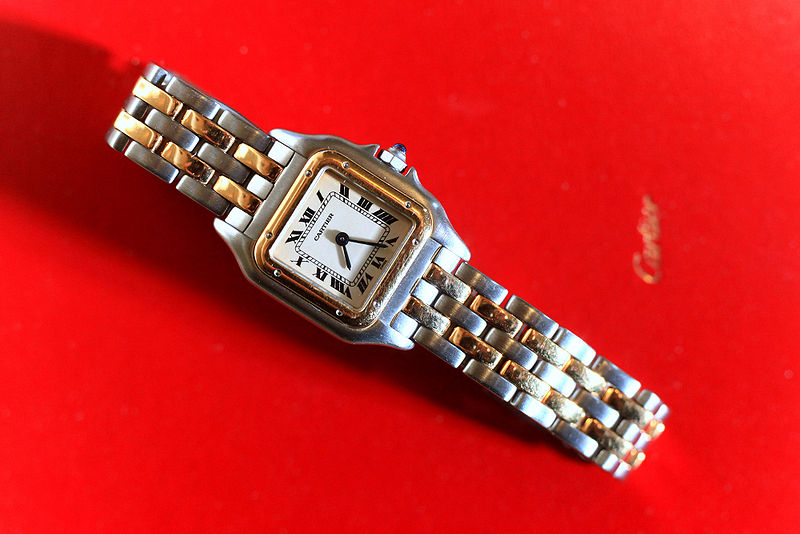 File:Cartier Panthere lady's 2 tone watch.jpg