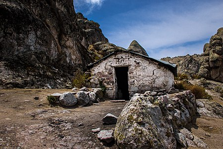 Stone house of the anthropologist Julio César Tello in Marcahuasi, Peru