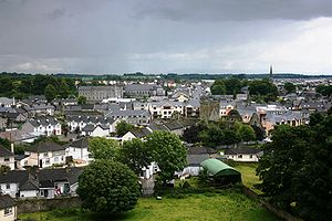 Cashel, County Tipperary - Panorama of town from the Rock of Cashel