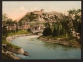 Castle and river, Lourdes, Pyrenees, France-LCCN2001698645.tif