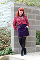 Cat Print Top, Purple Velvet Skirt, Faux Over the Knee Sock Tights, Black Ankle Boots.jpg