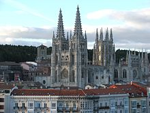 A photograph of Burgos Cathedral