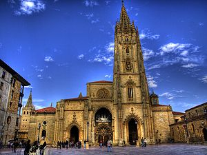 Pantheon of Asturian Kings - Principal façade of the Cathedral of San Salvador, Oviedo.