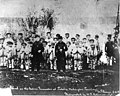Catholic Indian School,Tulalip Mission, Tulalip Indian Reservation, showing Father E Casimir Chirouse with pupils (CURTIS 1233).jpg