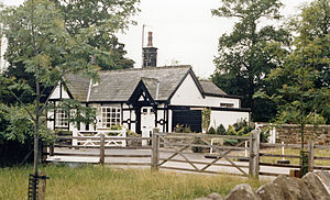 Caton with Littledale - Former station building in 1986