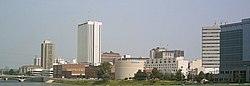 Skyline of Cedar Rapids, Iowa