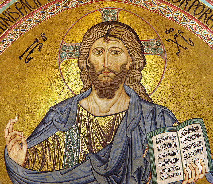 Ficheiro:Cefalu Christus Pantokrator cropped.jpg