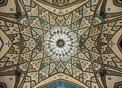 Ceiling of a shabestan in Fatima Masumeh Shrine, qom, iran, 3.jpg
