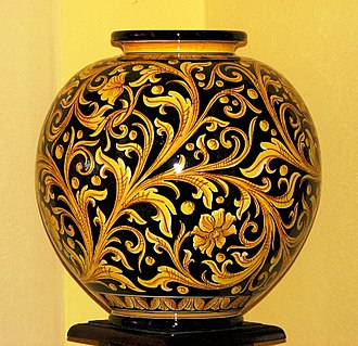 Caltagirone - Modern ceramic vase of Caltagirone.