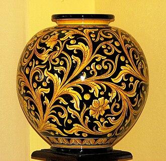 Caltagirone - Modern ceramic vase of Caltagirone.