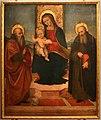Cerchia di mariotto albertinelli, madonna ol bambino tra i ss. macario e antonio abate, da s.m. a marcoiano, 01.jpg
