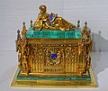 Ceremonial box for the wedding of Helene von Mecklenburg to Prince Ferdinand Philippe, Fossin & Fils, Paris, 1837, gilt silver, malachite, enamel - Hessisches Landesmuseum Darmstadt - Darmstadt, Germany - DSC01066.jpg