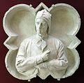Cesare fantacchiotti, dante alighieri, gesso preparatorio per il decoro della facciata di santa maria del fiore, 1883.jpg