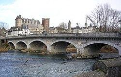 The Chateau above the Gave de Pau