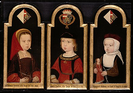 Eleanor and her siblings Charles V and his sisters.jpg